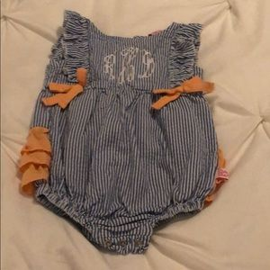 Ruffle Butts Monogramed Romper